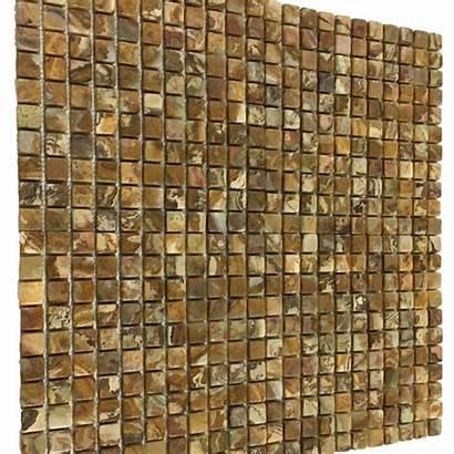 Multi 1x1 Mosaic Tile Square Tumbled Onyx