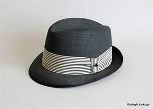 Vintage 1950s MENS Hat : 50s 60s Stetson Straw Fedora