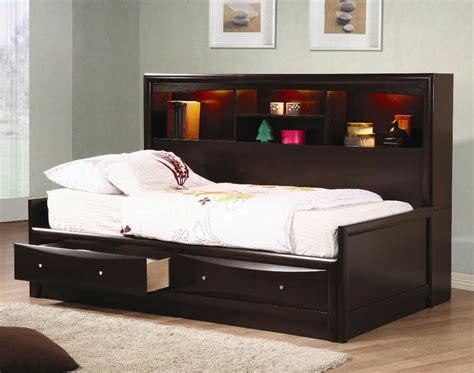 Daybed Bookcase by Youth Captains Storage Bookcase Chest Bed Daybed