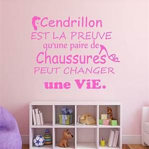 sticker citation cendrillon est la preuve stickers With chambre bébé design avec peut on envoyer des fleurs pour une crémation