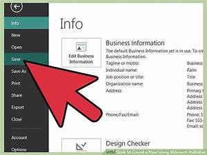 How Do You Make A Brochure In Microsoft Word How To Create A Flyer Using Microsoft Publisher 11 Steps