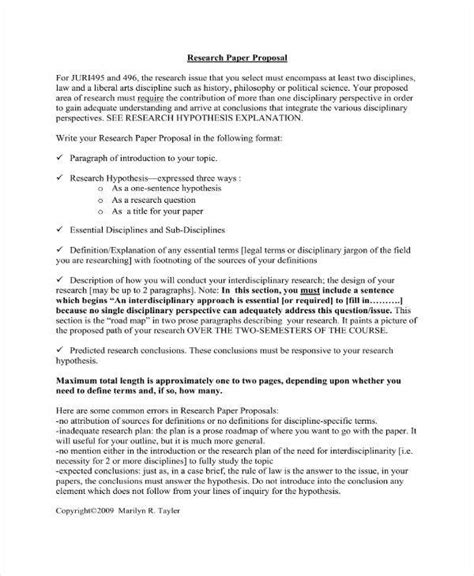 research project proposal outline templates