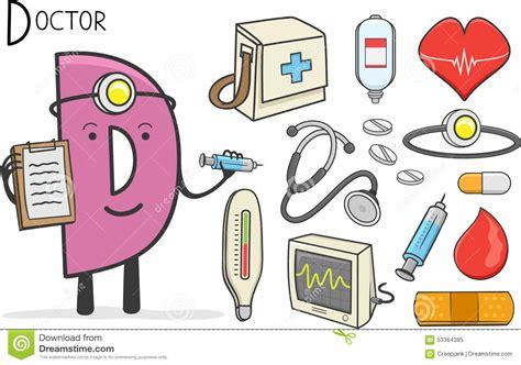 doctors letter alphabeth occupation letter d doctor stock vector 10588