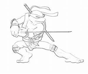 Teenage Mutant Ninja Turtles Nickelodeon Leonardo Coloring