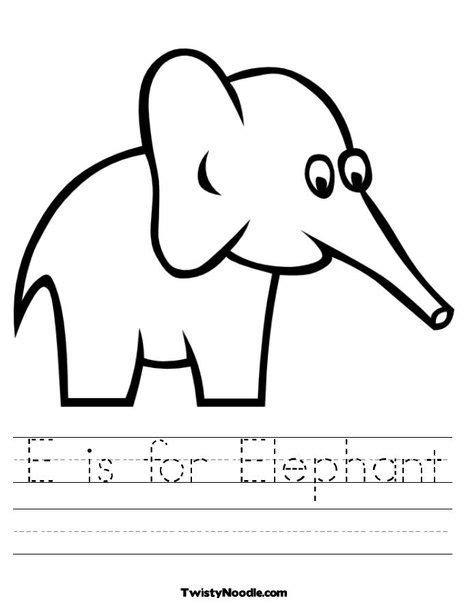 elephant worksheet  twistynoodlecom