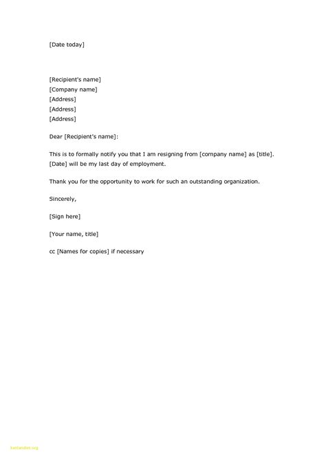 simple resignation letter template 18 sle of simple resignation letter the principled society