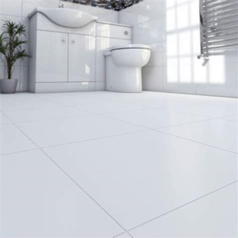 White Porcelain Bathroom Floor Tiles 29 White Gloss Black