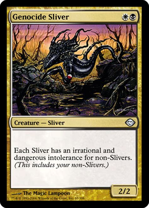 mtg sliver deck they re named remasuri in german commander edh mtg deck