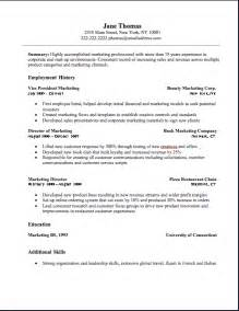 resumes for a marketing marketing resume marketing resume sle