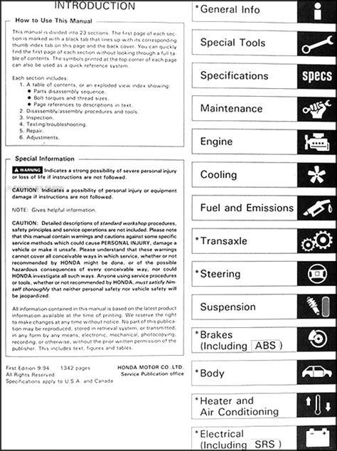 how to download repair manuals 1995 honda del sol on board diagnostic system 1995 honda civic del sol repair shop manual original
