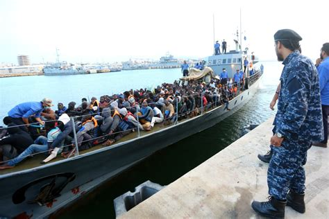 Libya To Italy By Boat 2017 54 dead some 10 000 migrants rescued between libya and