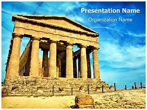 Ancient greek temple powerpoint template background for Ancient greece powerpoint template