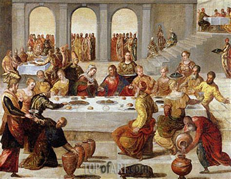 wedding feast  cana tintoretto painting
