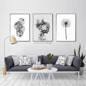Nordic Abstract Poster And Prints Black White Wall Art ...