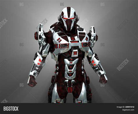 Futuristic Battle Robot Image & Photo Bigstock
