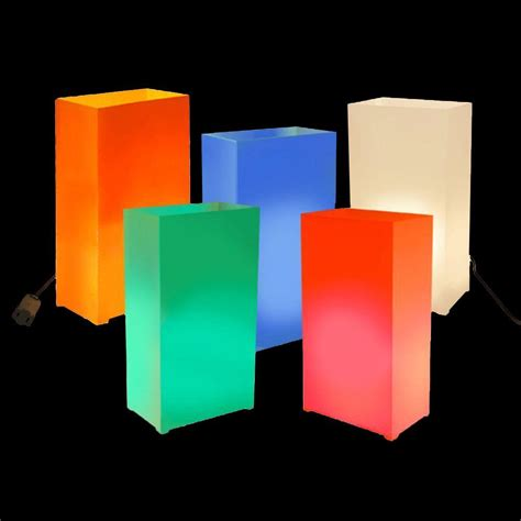 lumabase multi color electric luminaria kit set of 10 60710 the home depot