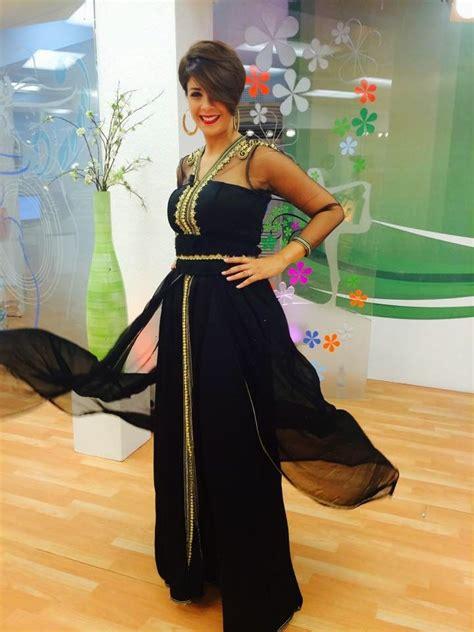 robe de soiree moderne caftan marocain 2015 couleur noir style robe de soir 233 e en satin et mousseline avec des manches