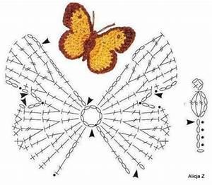 Crochet Butterfly Diagram