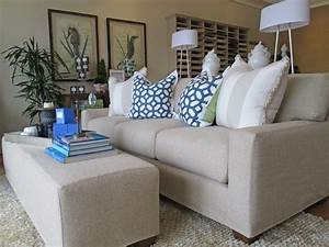Tailored fitted slipcovers beach style living room for Quatrine furniture slipcovers