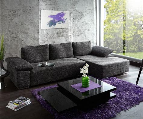 Sofa Valencia Cm Schwarzweiss Strukturstoff Couch