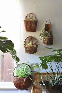 Vintage, Large, Wicker, Woven, Wall, Hanging, Basket, With, Pocket, Farmhouse, Planter