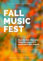 Free Daycare Logos Simple Modern Blurred Fall Festival Flyer Templates By Canva