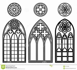 Gotische Fenster Konstruktion : gothic windows of cathedrals stock vector illustration ~ Lizthompson.info Haus und Dekorationen