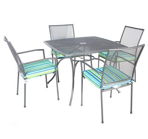 bentley 5 garden furniture set metal mesh grey