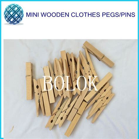 48 mm craft natural clip wooden peg clothespin