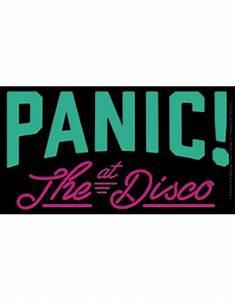 Panic At The Disco Black Logo Sticker