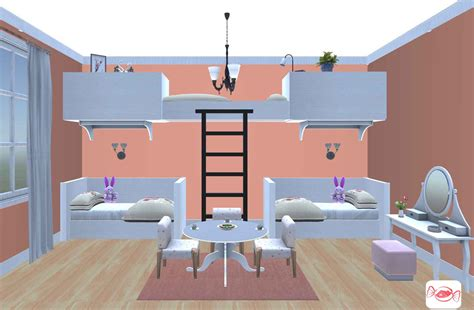 girls bedroom design created  home sweet home  app