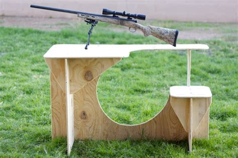 diy shooting bench plans plywood wooden  woodcrafts
