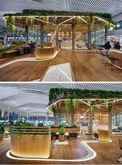 Cafe Cafes Airport Unstudio Covered Plant Korea