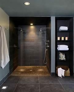 modele douche a l39italienne 74 idees pour l39amenager With porte d entrée pvc avec accessoires salle de bain bathroom