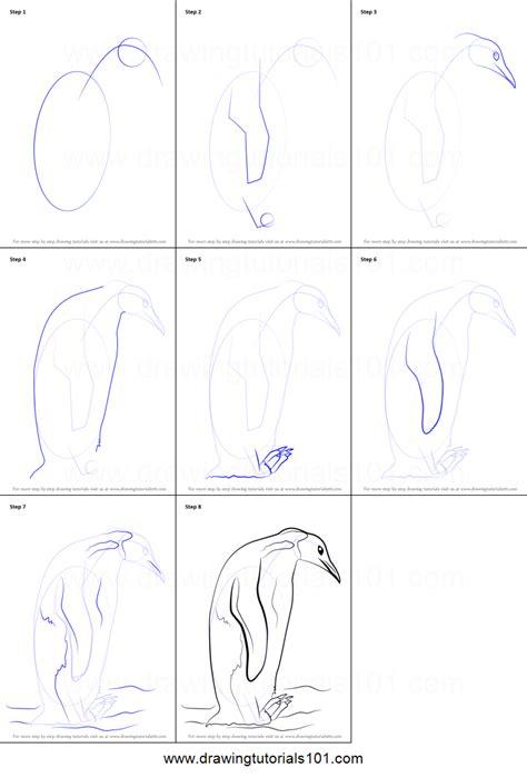 draw  emperor penguin printable step  step