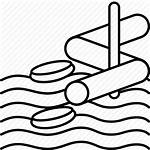 Water Park Slide Icon Aqua Drawing Clipartmag