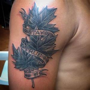 18 Maple Leaf Tattoo Pictures, Images And Design Ideas