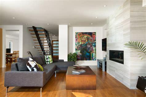 asymmetrical room asymmetrical overhaul modern living room other metro by klondike contracting