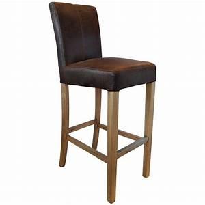 Tabouret De Bar Chez Casa : chaise de bar clifton aspect cuir et pi tement en bois ~ Teatrodelosmanantiales.com Idées de Décoration