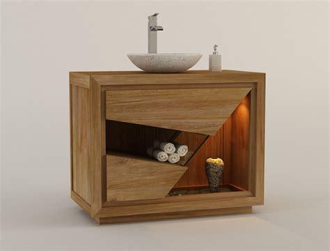 meuble salle de bains teck jennmomoftwomunchkins