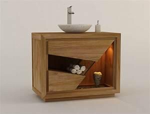 Meuble De Salle De Bain En Teck : meuble salle de bain teck ce meuble bas de salle de bain ~ Edinachiropracticcenter.com Idées de Décoration