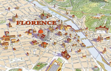 map  florence  major places sights