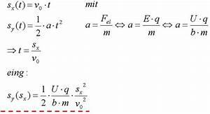 Bahnkurve Berechnen : referate physik flugteilchen im kondensator ~ Themetempest.com Abrechnung