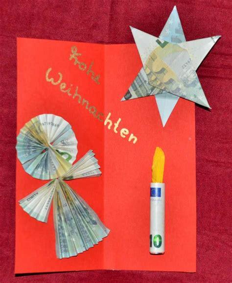 Geldgeschenke Basteln Für Weihnachten Engel, Stern Und