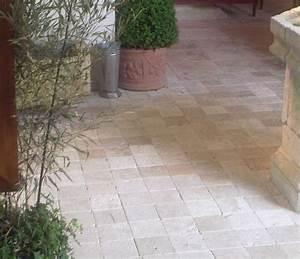 dalles de terrasse travertin vieilli turquie With dalles exterieur pas cher