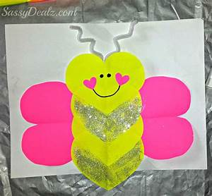 Butterfly Love Bug Valentine's Day Craft For Kids - Crafty ...