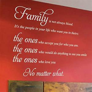 Family Is Not A... Family Blood Quotes