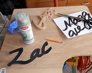 wooden name signs projects by zac With wood sign making templates