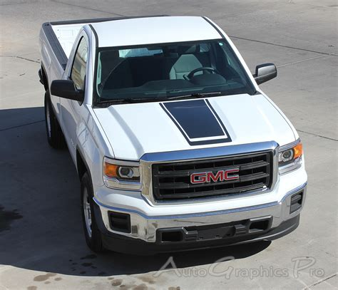 2014 2017 2018 GMC Sierra Stripes MIDWAY Hood Decals Truck
