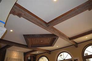 Luxury Density Fiberboard Coffered Design For Ceiling Kits